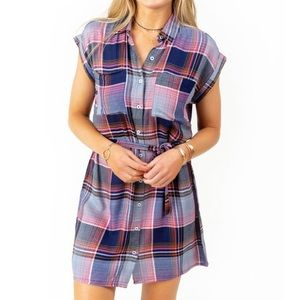 Francesca's size XXS flannel shirt dress